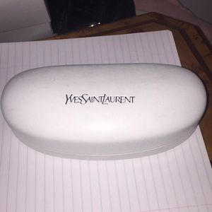 YSL sunglasses case and lens wipe